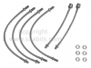 Saab 900 '88-'93 Stainless Braided Brake Hose Kit (non-ABS)