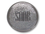 Saab 96 C-pillar badge (early, chrome)